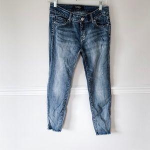 Wax jeans mid rise- raw hem edition skinny